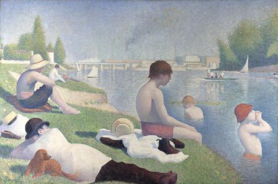 Seurat. Une Baignade à Asnières (1884)