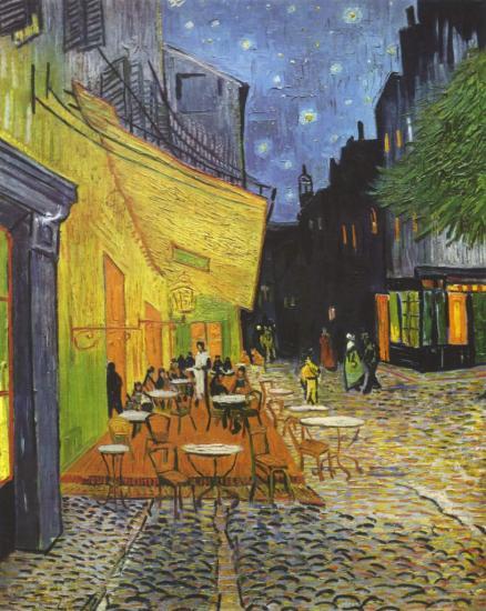 Van Gogh. Café-terrasse de la Place du Forum, 1888