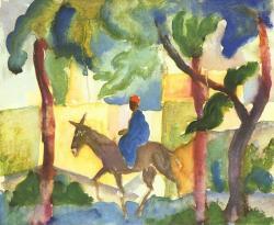 Cavalier sur un âne, 1914