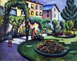 Macke. Jardin à Bonn, 1911