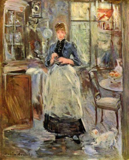 Berthe Morisot. Dans la salle à manger (1875)