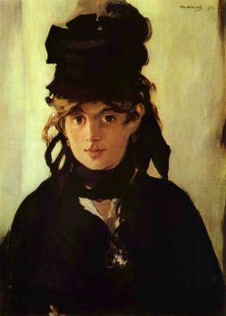 Edouard Manet. Berthe Morisot au bouquet de violettes (1872)