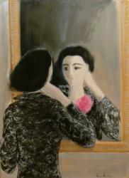 Miroir à la rose