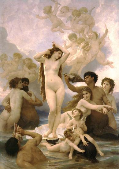 Bouguereau. La naissance de Vénus (1879)