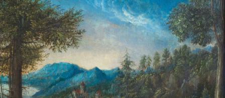 Albrecht Altdorfer. Paysage du Danube, détail