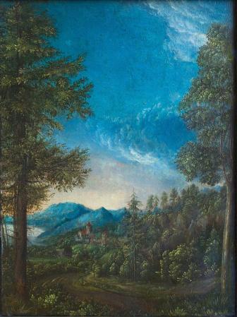 Albrecht Altdorfer. Paysage du Danube près de Ratisbonne (1520-1525)