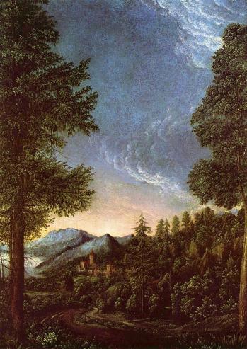 Albrecht Altdorfer. Paysage du Danube (v. 1520)