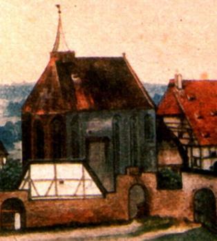 Albrecht Dürer. L'église Saint-Jean, détail