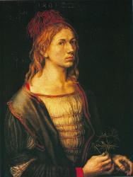 Albrecht Dürer. Autoportrait à 22 ans (1493)