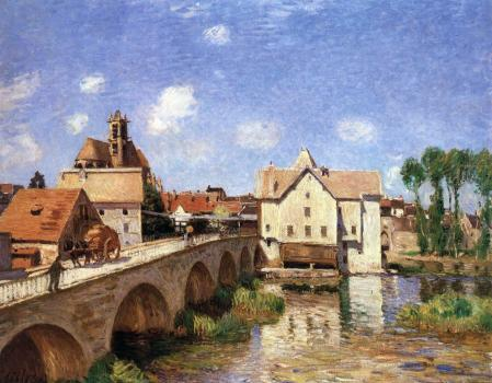 Alfred Sisley. Le pont de Moret (1893)