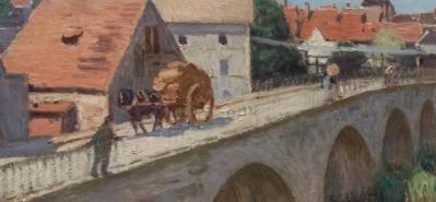 Alfred Sisley. Le pont de Moret détail