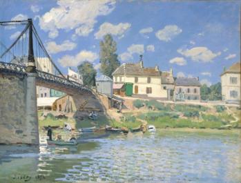 Alfred Sisley. Pont de Villeneuve-la-Garenne (1872)
