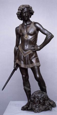 Andrea del Verrocchio. Le jeune David (1473-75)