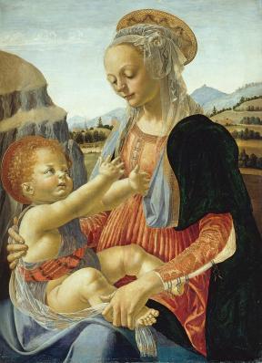 Andrea del Verrocchio. Vierge à l'Enfant (v. 1470)