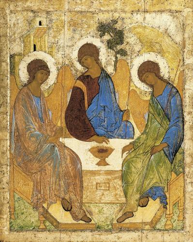 Andreï Roublev. La Trinité de l'Ancien Testament (1410)