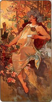 Mucha. L'automne (1896)