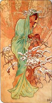 Mucha. L'hiver (1896)