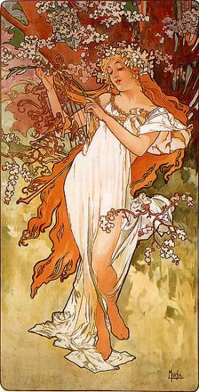 Mucha. Le Printemps (1896)