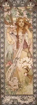 Mucha. Maud Adams en Jeanne d'Arc (1909)