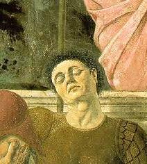 Autoportrait de Piero della Francesca. Détail de Résurrection (1465-70)
