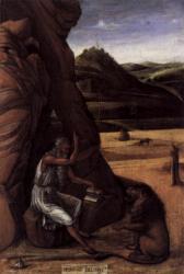 Bellini. Saint Jérôme dans le désert (1450)