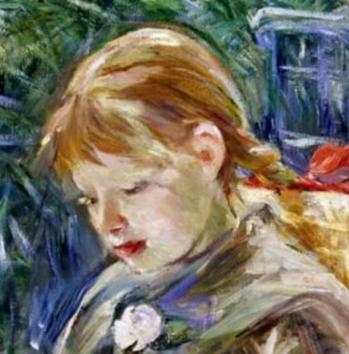 Berthe Morisot. La lecture, détail