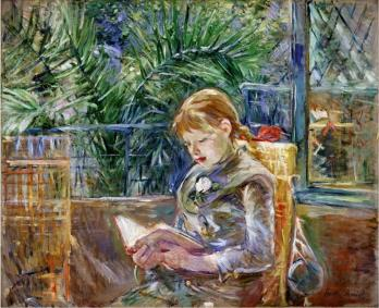 Berthe Morisot. Jeune fille lisant (La lecture) (1888)