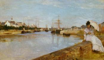 Berthe Morisot. Vue du petit port de Lorient (1869)