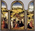 Bosch. triptyque de l'adoration des mages, ouvert (v. 1510)