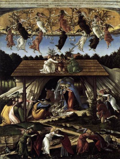 Botticelli. La nativité mystique (v. 1500)