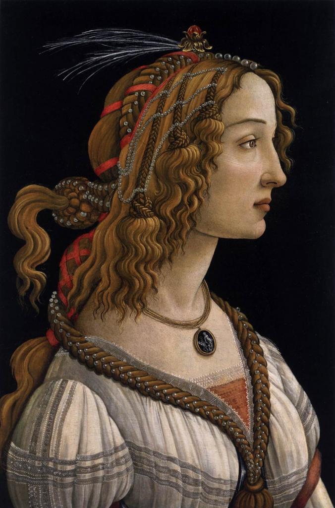 Sandro Botticelli. Portrait d'une jeune femme (1480-85)