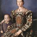 Bronzino. Eléonore de Tolède et son fils Giovanni de Médicis (1544-45)