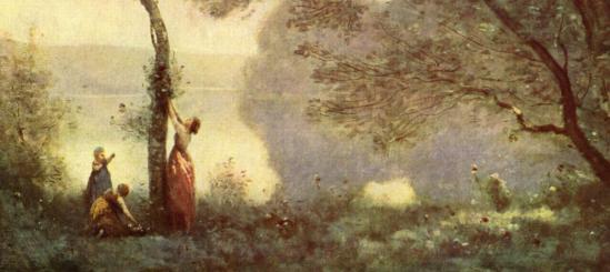 Camille Corot. Souvenir de Mortefontaine, détail