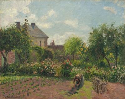 Camille Pissarro. Le jardin de l'artiste à Éragny (1898)