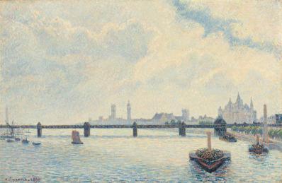 Camille Pissarro. Le pont de Charing Cross, Londres (1890)