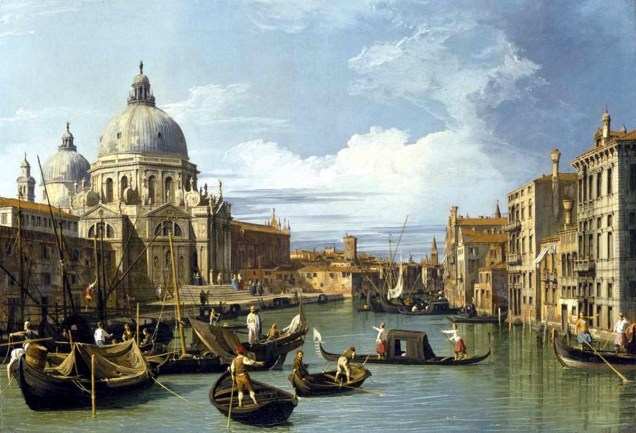 Canaletto le grand canal et l 39 glise de la salute 1730 venise laura vanel coytte ce que - Le grand schtroumpf et la schtroumpfette ...