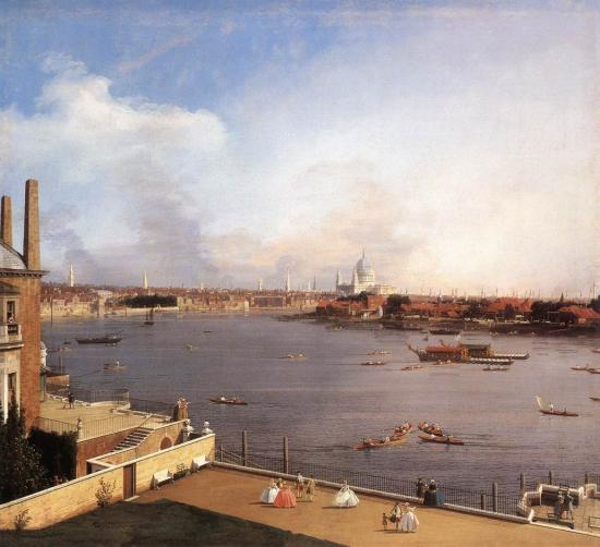 Canaletto. The Thames and the City of London from Richmond House, 1747
