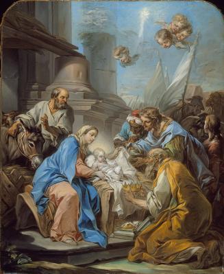 CCarle Van Loo. L'Adoration des mages (v. 1760)