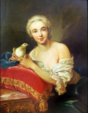Carle Van Loo. Portrait de Christina van Loo (v. 1740)