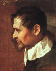 Carrache. Autoportrait (1590-1600)