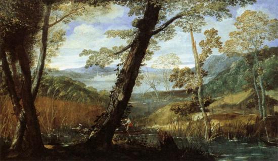 Carrache. Paysage fluvial (1590)
