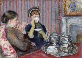 Mary Cassatt. Le thé (v. 1880)