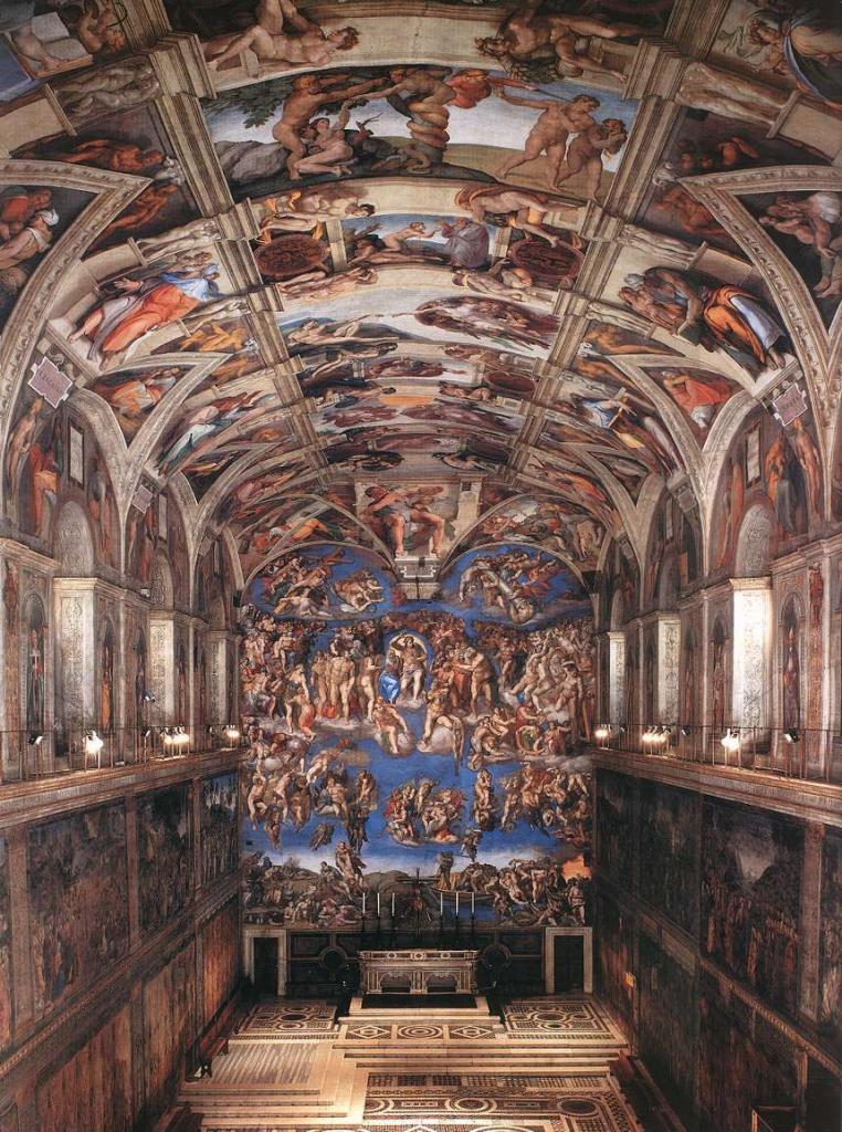 Biographie et uvre de michel ange - Michel ange chapelle sixtine plafond ...