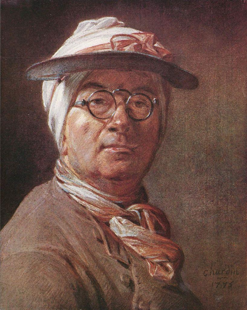 Biographie et oeuvre de jean sim on chardin 1699 1779 for Autoportrait miroir