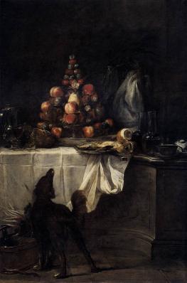 Chardin. Le buffet (1728)
