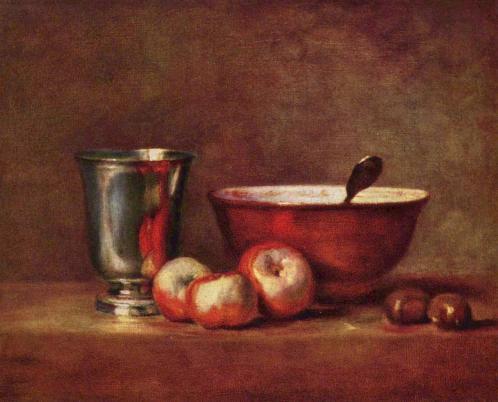 Chardin. Le Gobelet d'argent (1760-68)