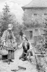 Jean-Jacques et Mme de Warens aux Charmettes (gravure)