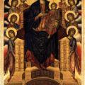 Cimabue. La Vierge en majesté ou Maestà (1285-86)