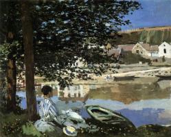 Claude Monet. Au  bord de l'eau à Bennecourt (1868)