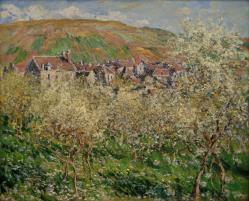 Claude Monet. Pruniers en fleurs (1879)
